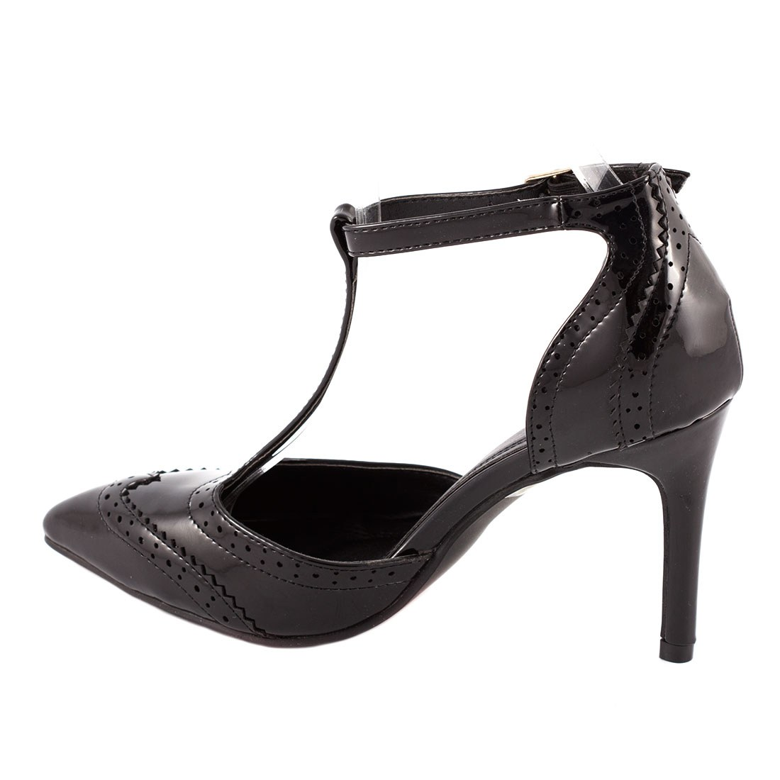 Pantofi de dama cu bareta 109-6NEGRU
