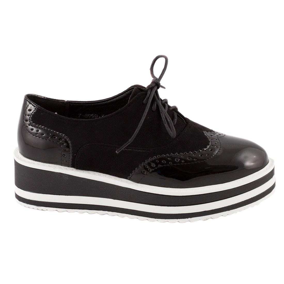 Pantofi de dama casual 7-8998-NEGRU