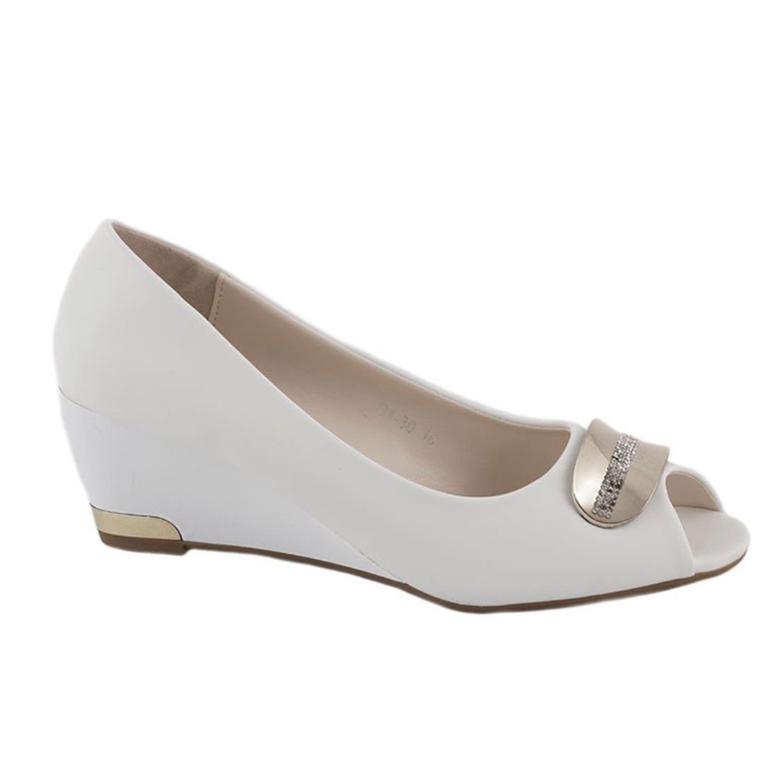 Pantofi de dama cu talpa ortopedica B1-30-ALB
