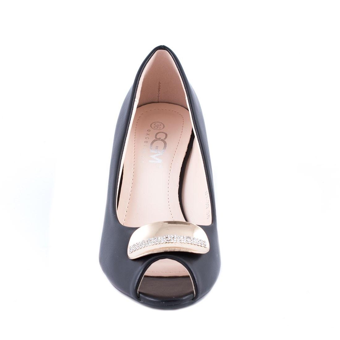 Pantofi de dama cu talpa ortopedica B1-30-NEGRU