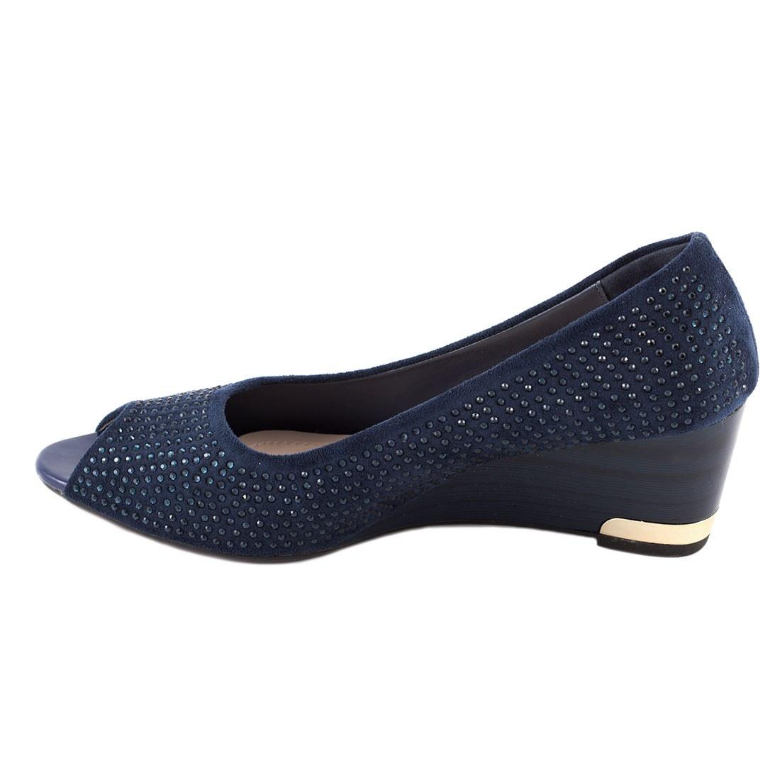Pantofi de dama cu strasuri B1-25-BLUE
