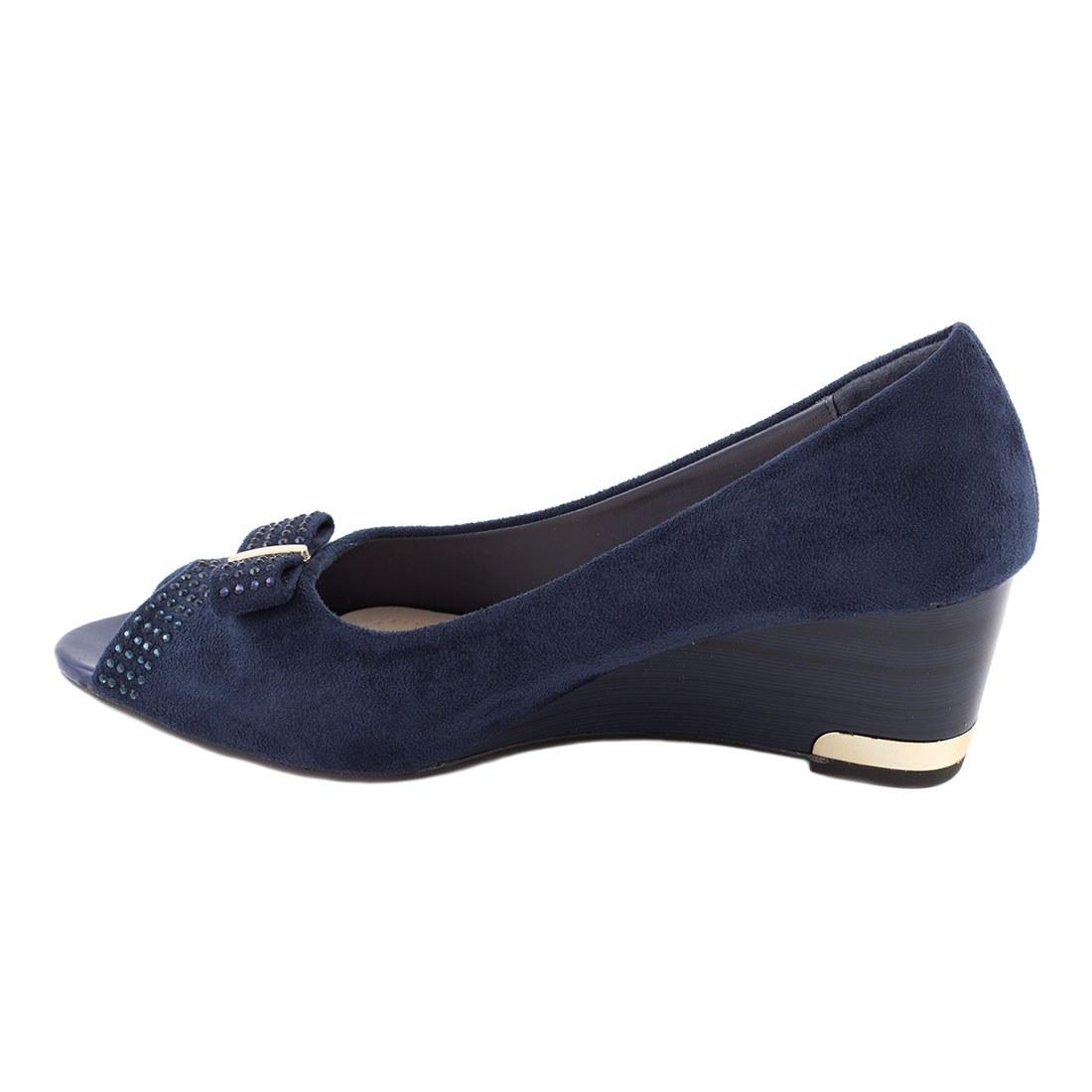 Pantofi dama cu fundita B1-26-BLUE