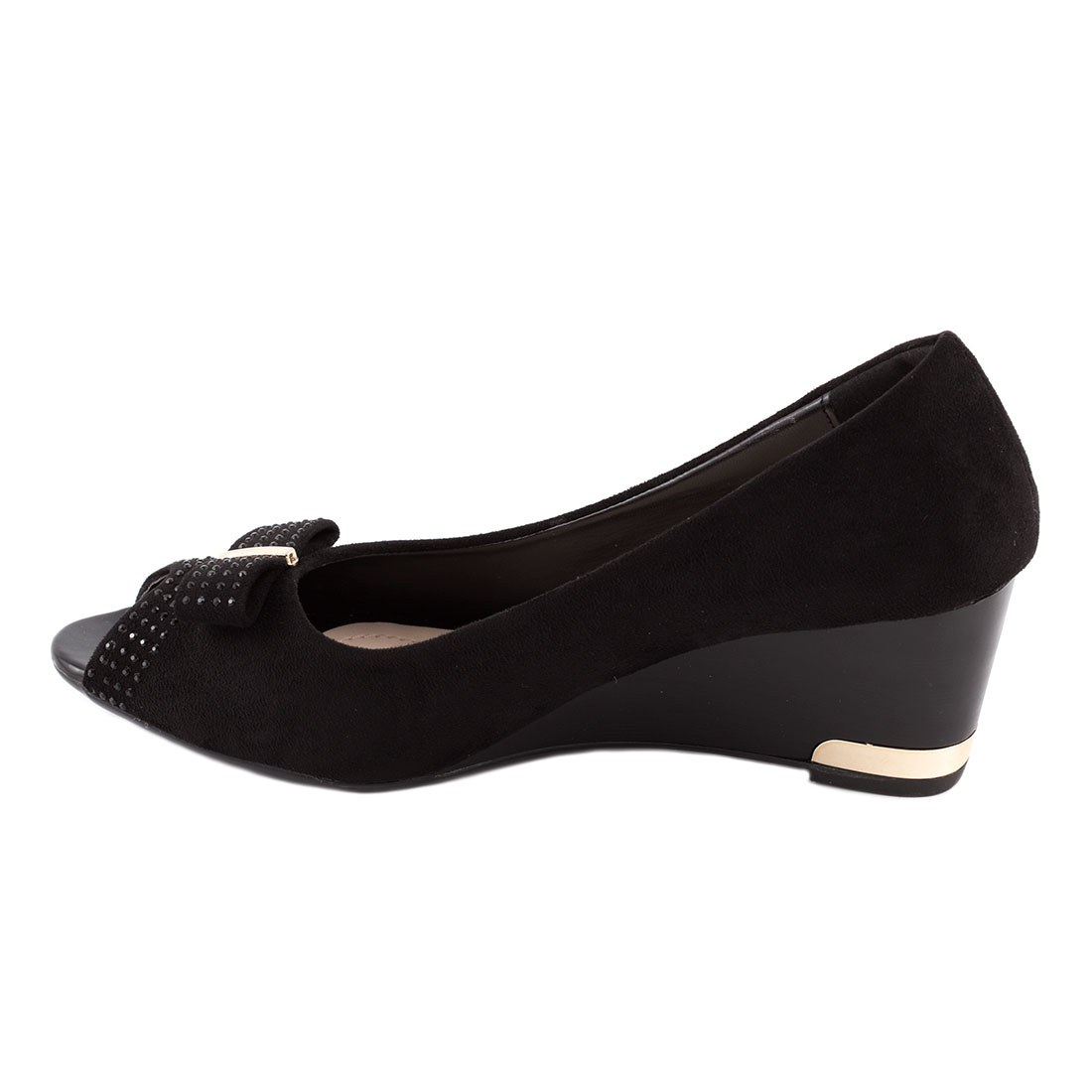 Pantofi dama cu fundita B1-26-NEGRU