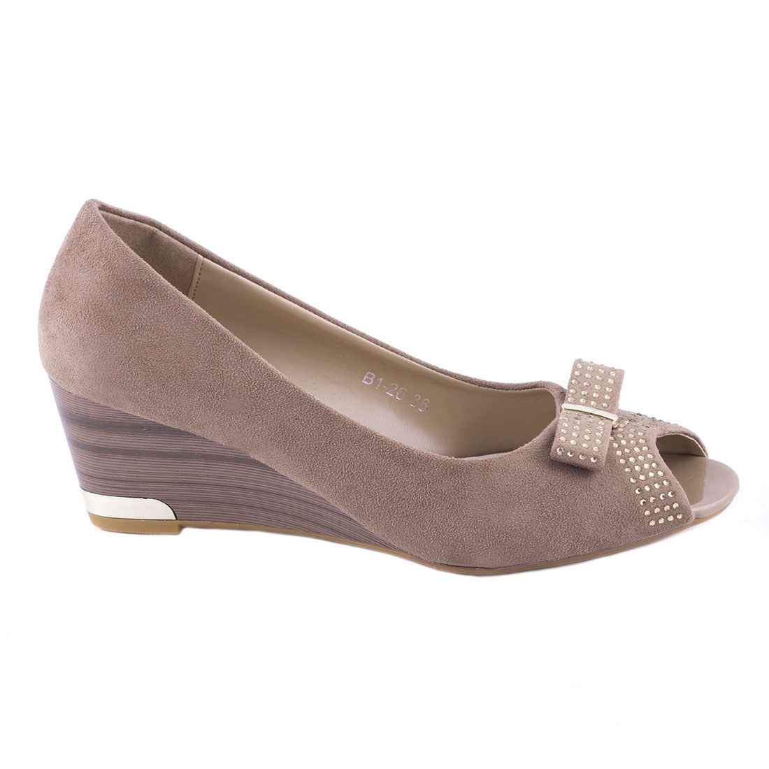 Pantofi dama cu fundita B1-26-KAKI