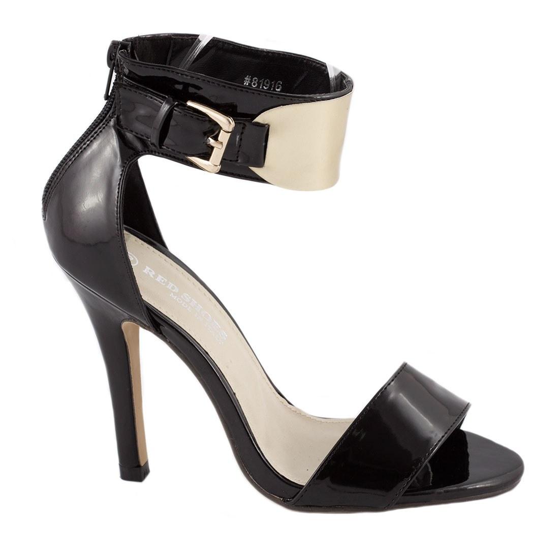 Sandale de dama cu bareta 81916-NEGRU-PAT