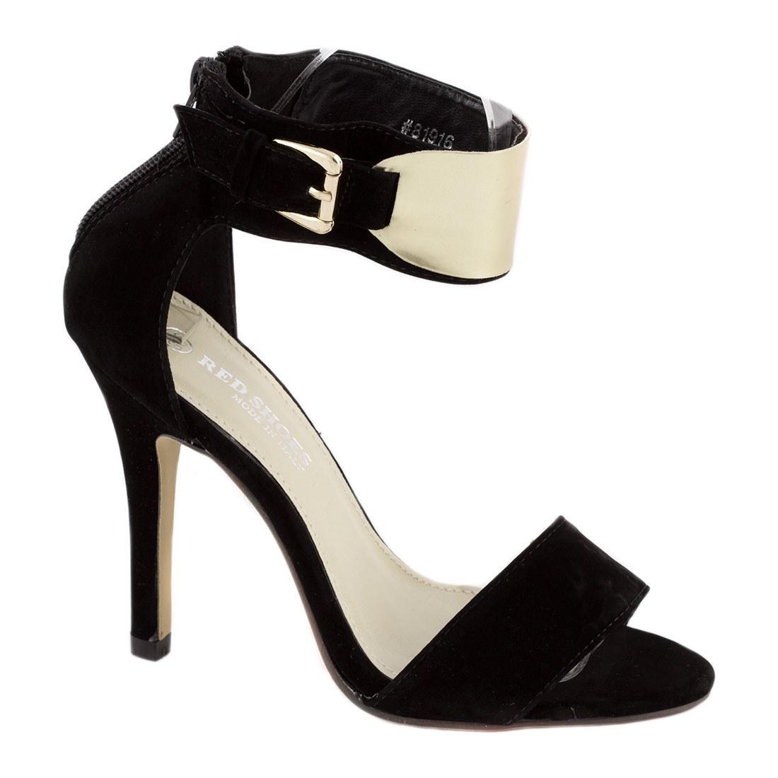 Sandale de dama cu bareta 81916-NEGRU-SUEDE