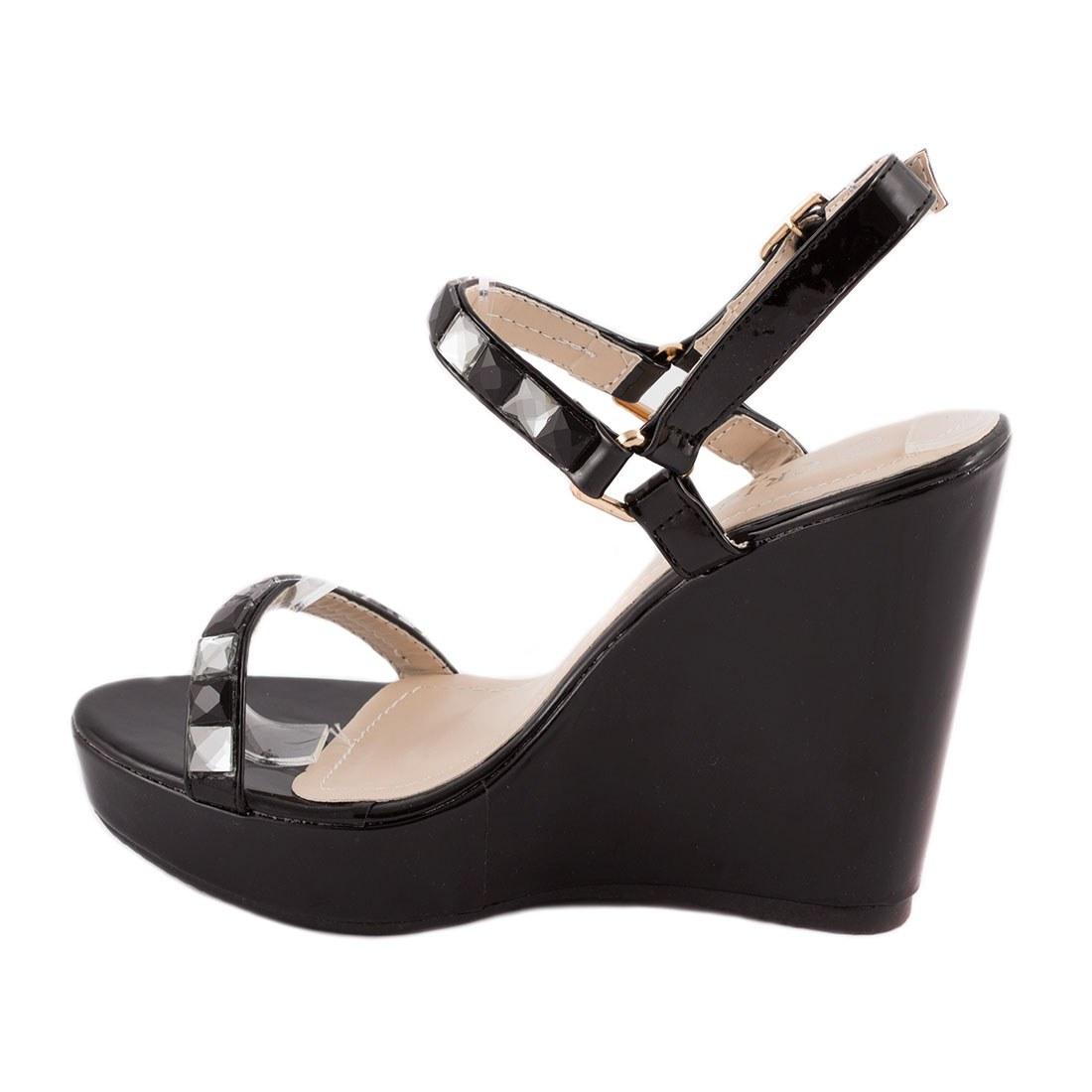 Sandale dama cu talpa ortopedica 83094-NEGRU-PT