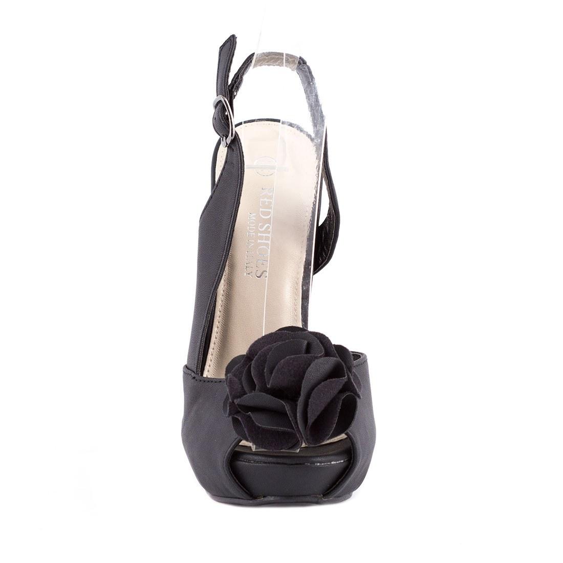 Sandale dama cu platforma 82062-NEGRU-P-A