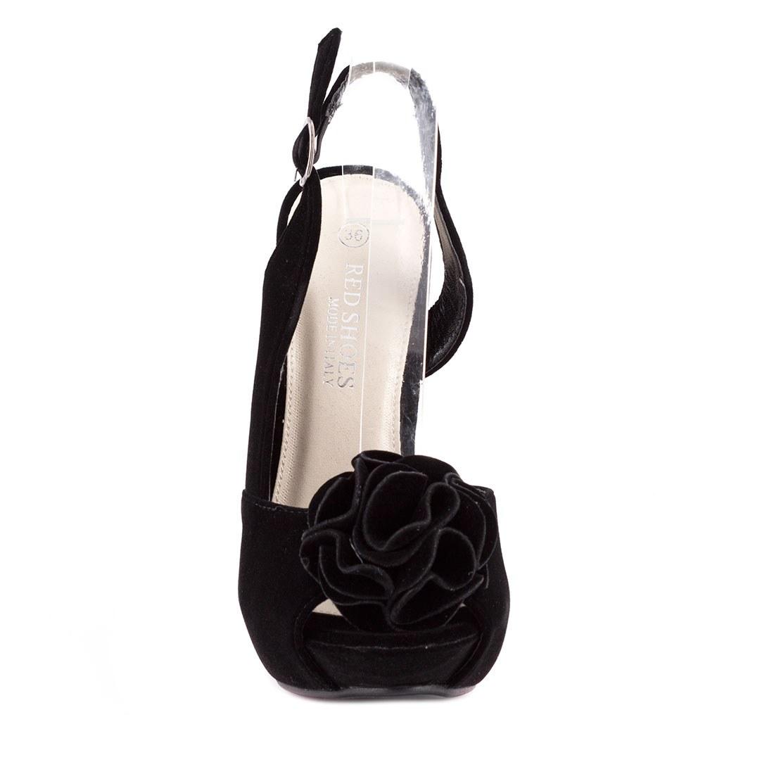 Sandale dama cu platforma 82062-NEGRU-CATIFEA-SS-A