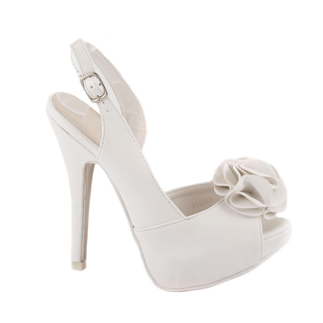 Sandale dama cu platforma 82062-ALB-P-A