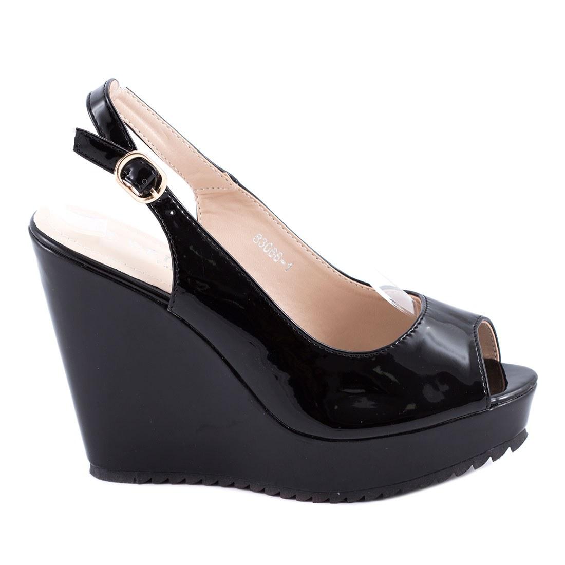 Sandale de dama cu talpa ortopedica 83066-1-NEGRU-PT