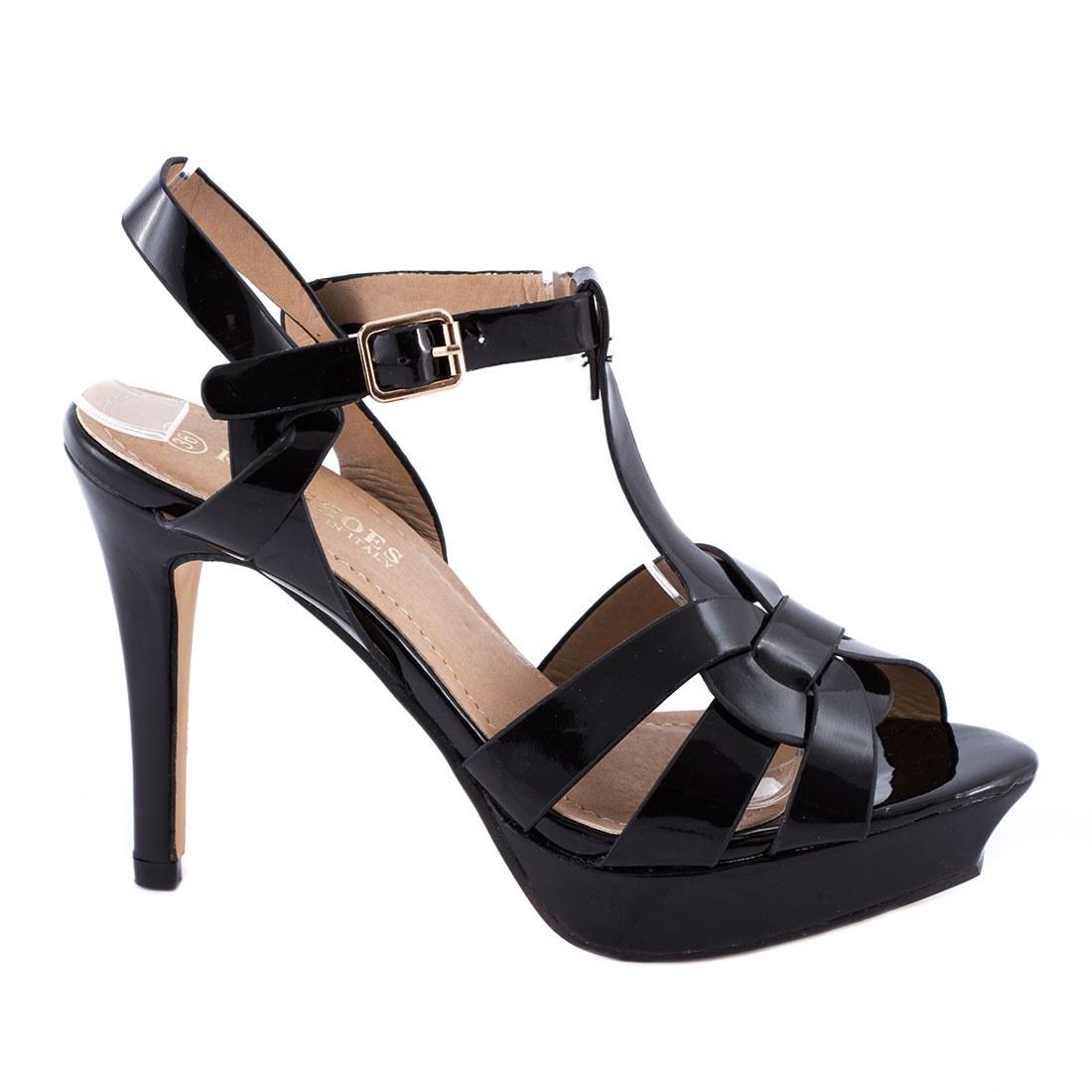Sandale de dama cu barete 83092-NEGRU-PT