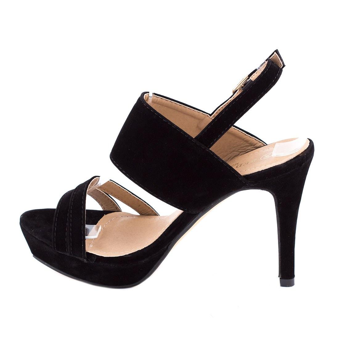 Sandale de dama comode 82975-NEGRU-SS