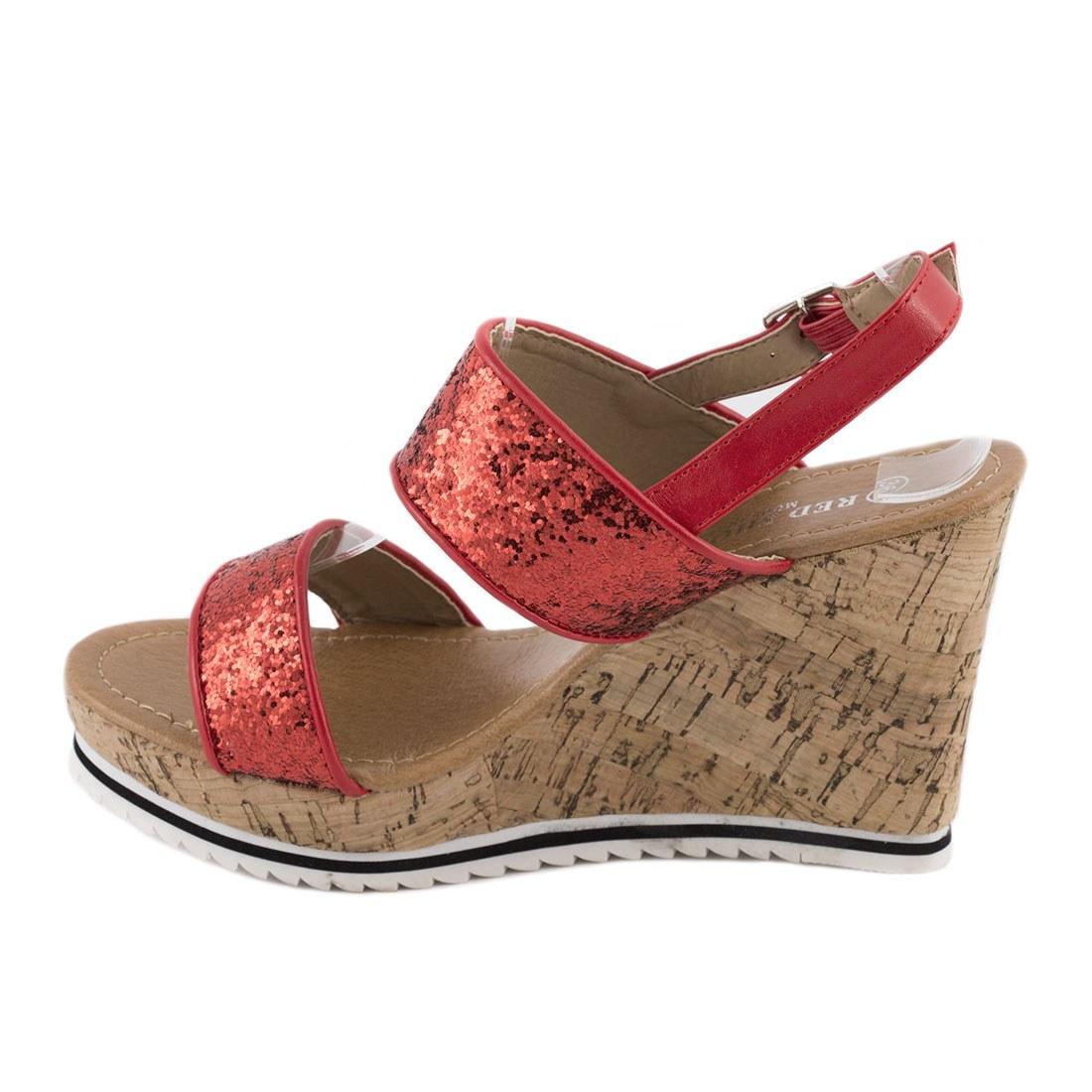 Sandale dama cu talpa ortopedica 83059-ROSU