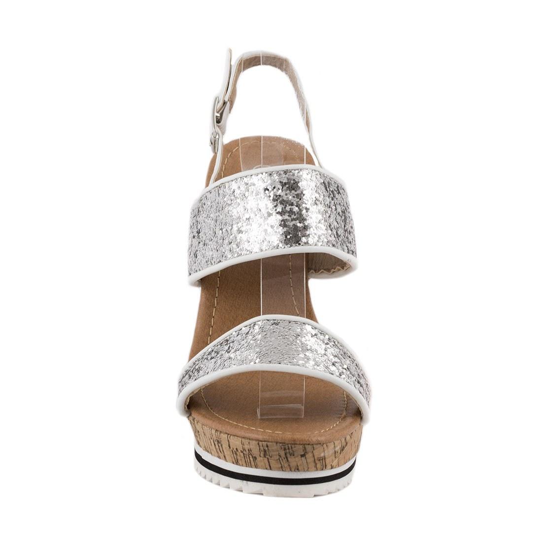 Sandale dama cu talpa ortopedica 83059-SILVER