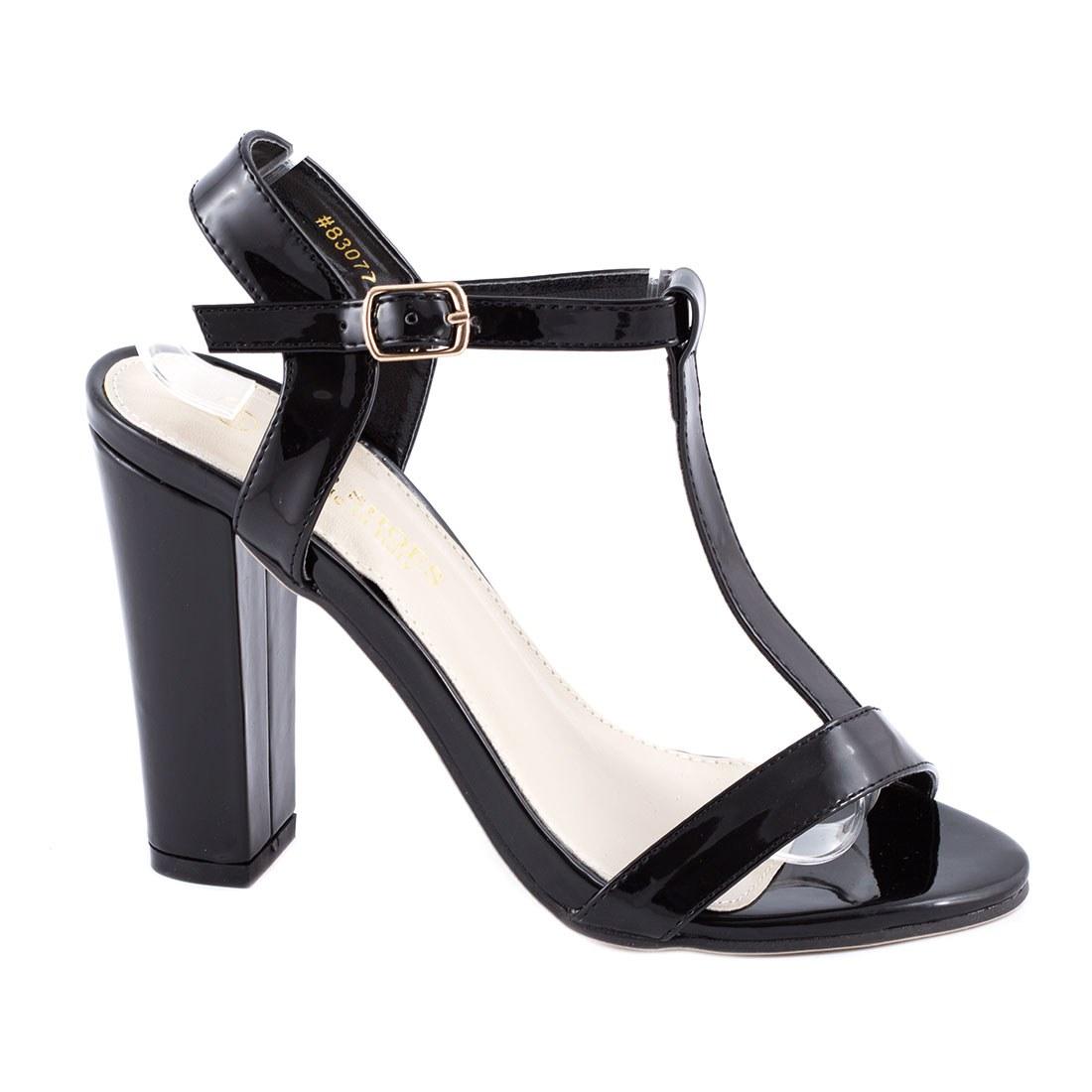 Sandale dama cu toc 83077-NEGRU-PT
