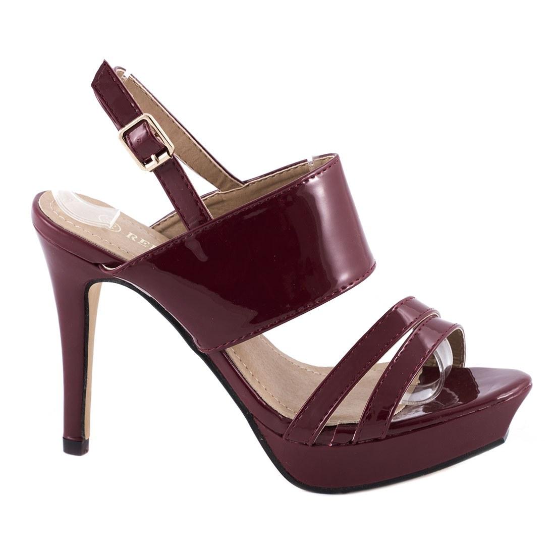 Sandale de dama comode 82975-BURGUNDY