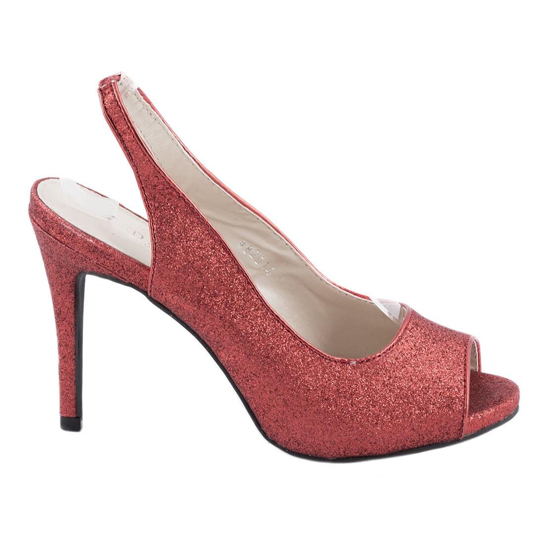 Sandale dama cu toc 82514-ROSU