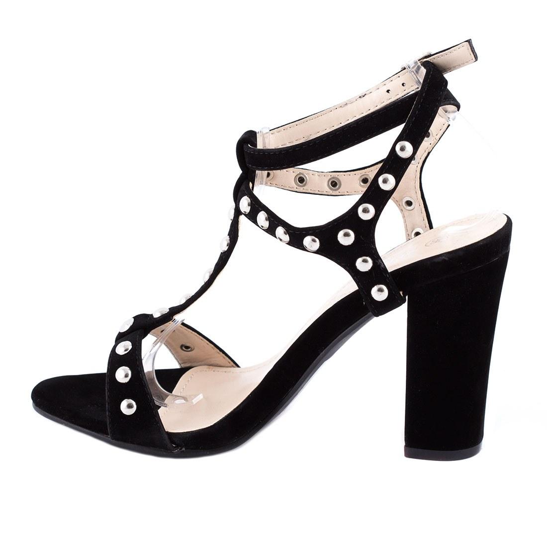 Sandale de dama cu capse 82186-NEGRU-SS