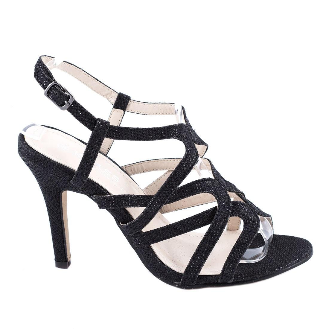 Sandale dama cu toc 82641-NEGRU-SP