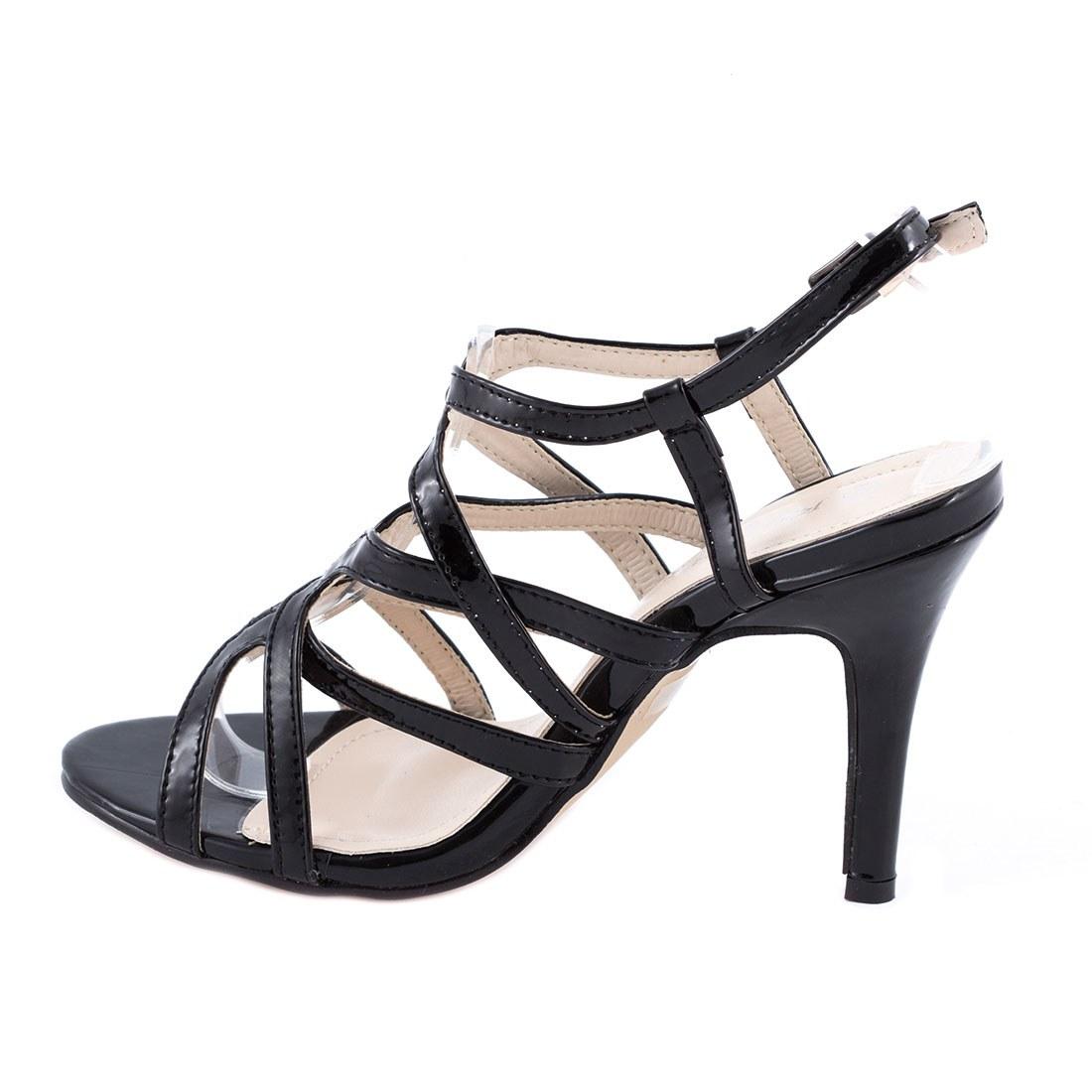 Sandale dama cu toc 82641-NEGRU-PT