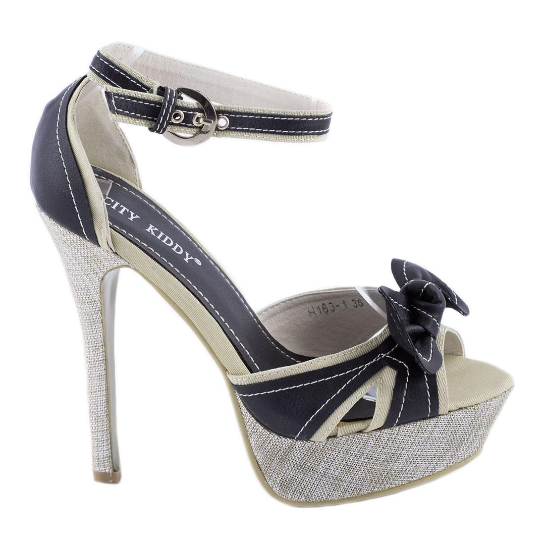 Sandale dama cu bareta H163-1-NEGRU