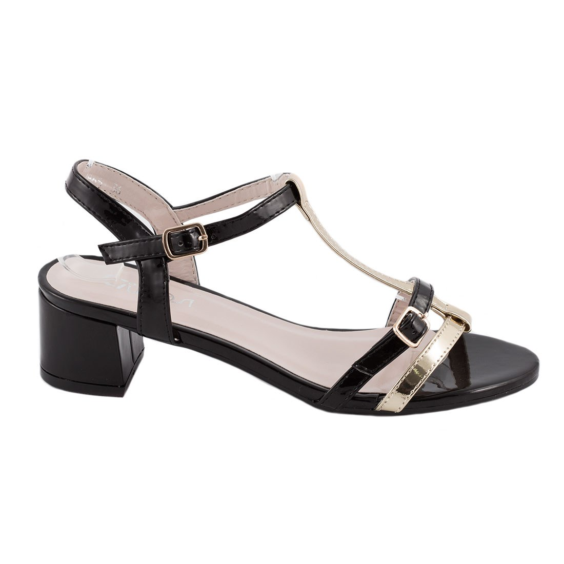 Sandale de dama cu toc GRS-865-NEGRU