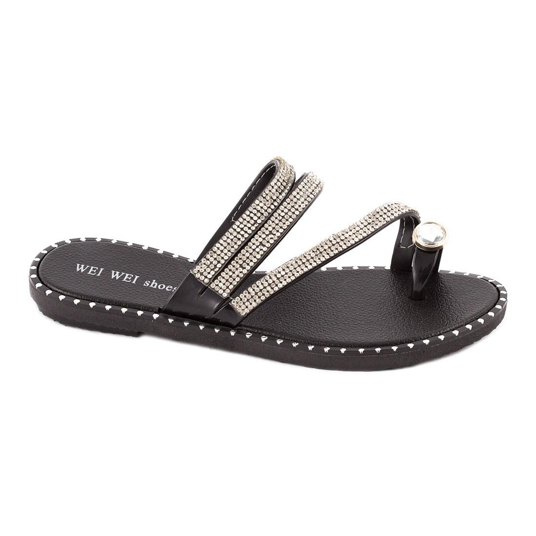 Papuci dama comozi P1620-NEGRU