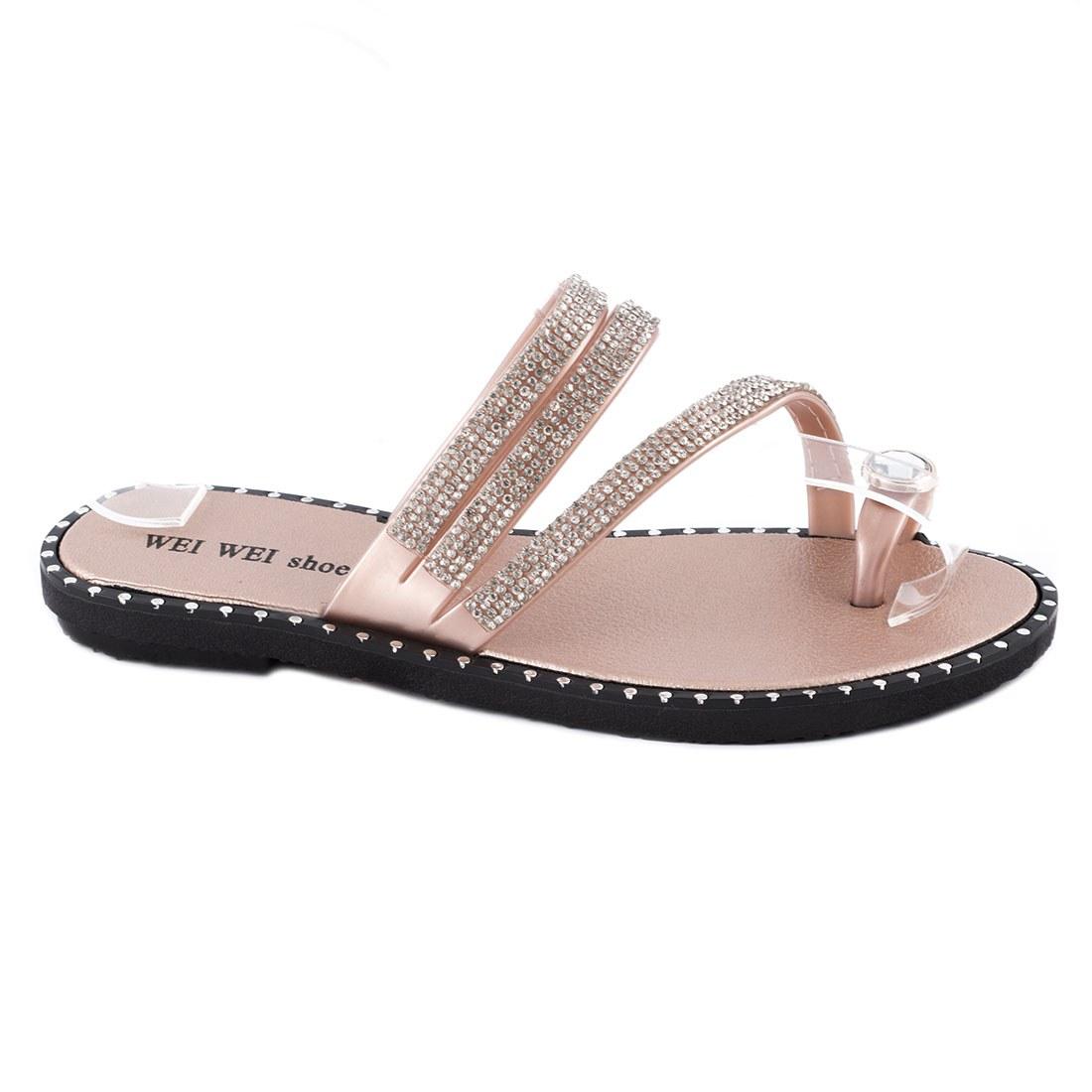 Papuci de dama comozi P1620-CHAMPAGNE