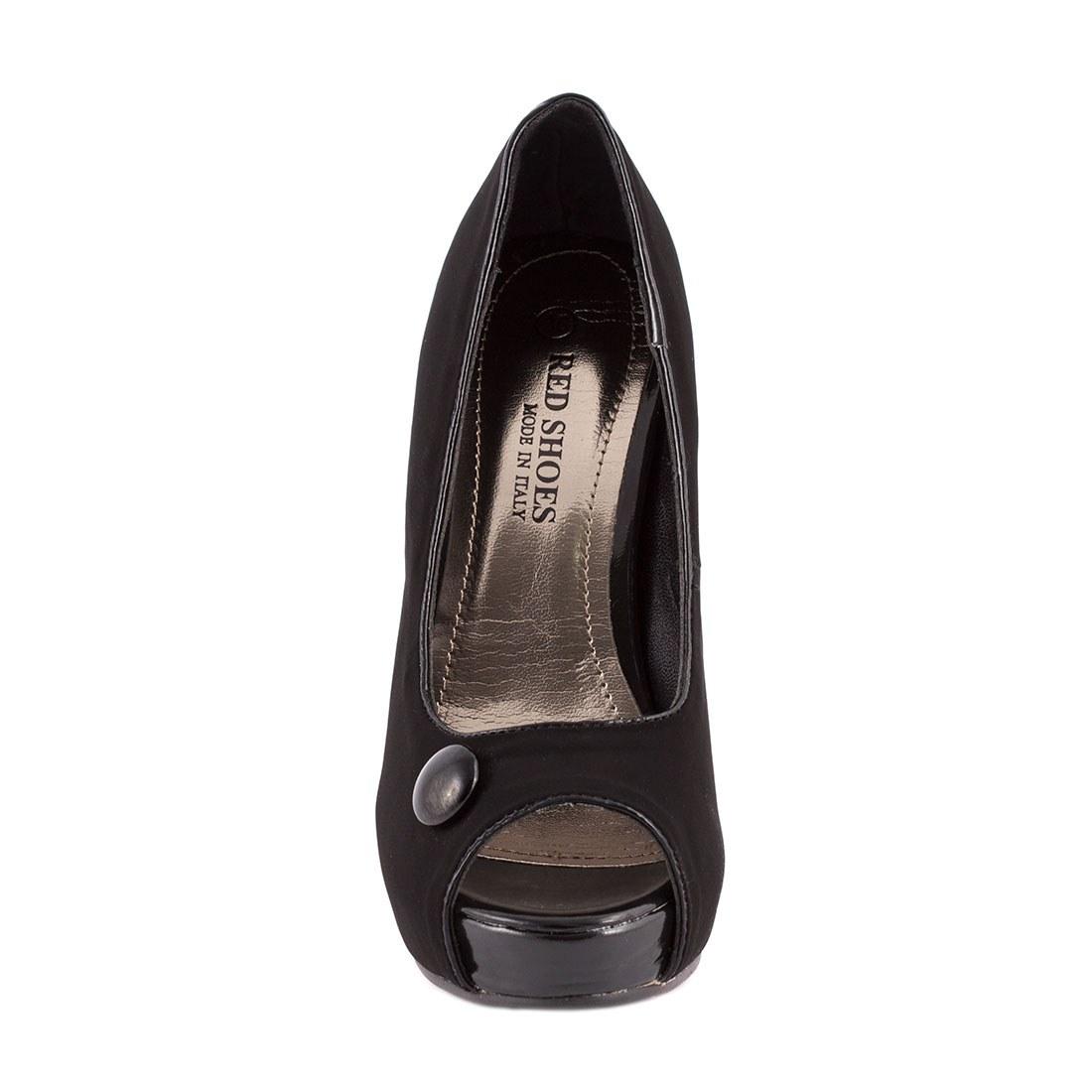 Pantofi de dama cu platforma 26863-NEGRU