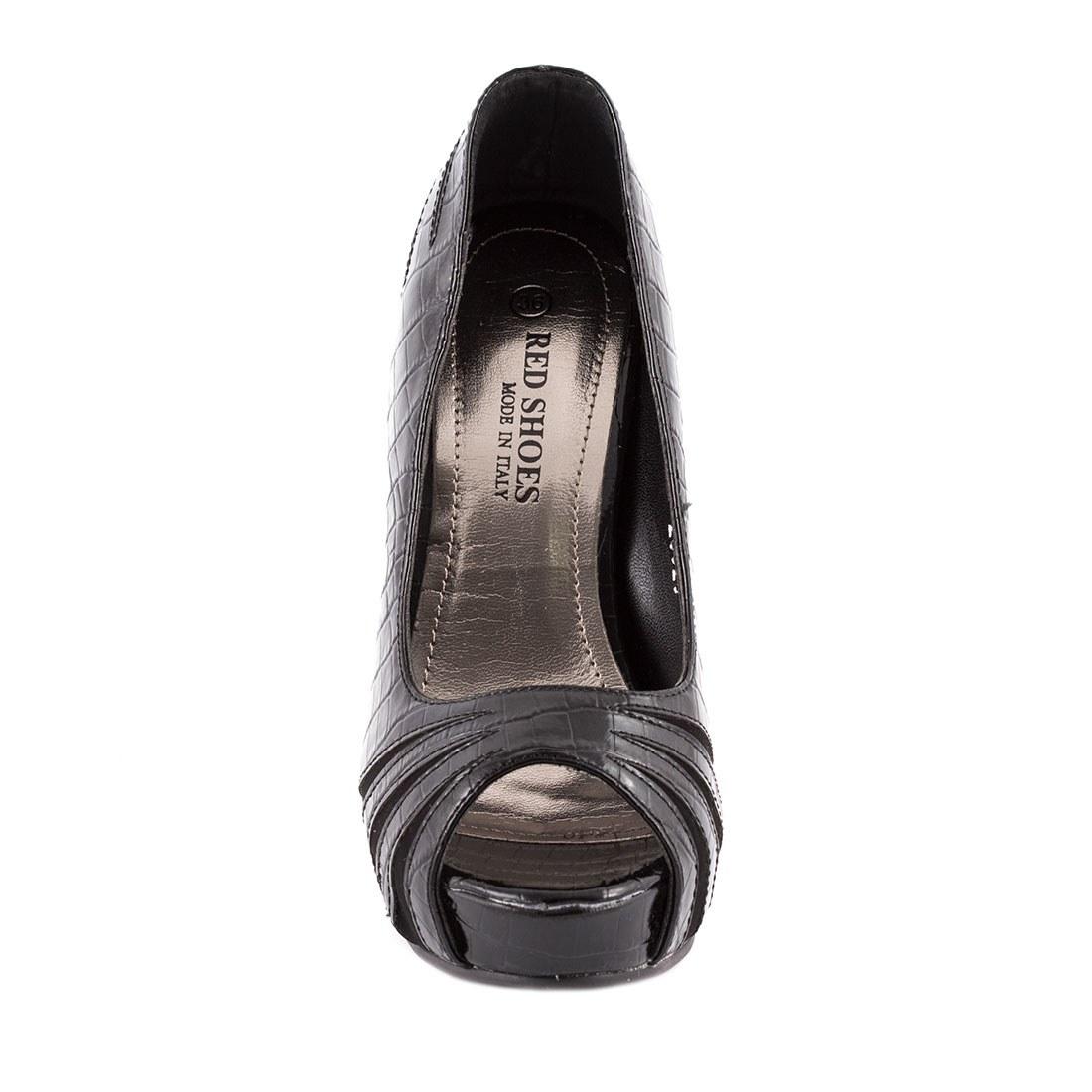 Pantofi dama cu platforma 26920-NEGRU-C-L
