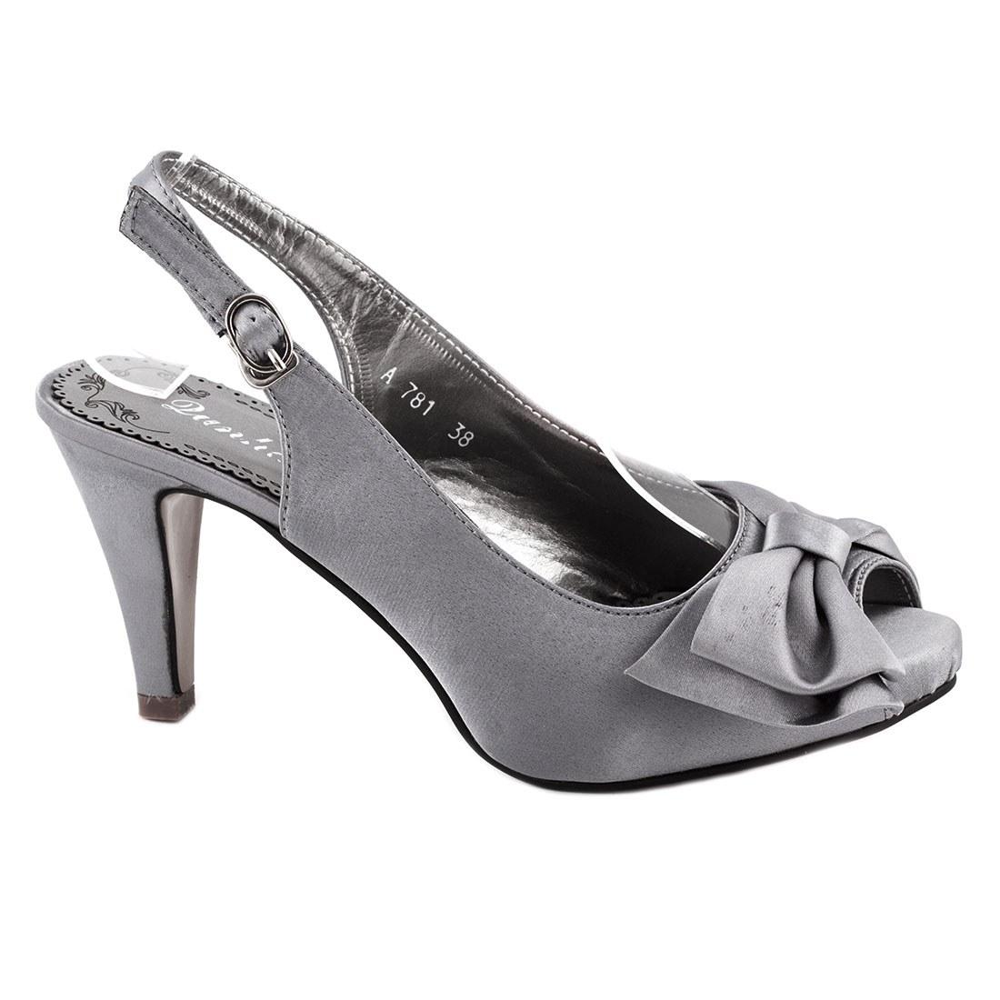 Sandale dama cu toc A781-GRI-O