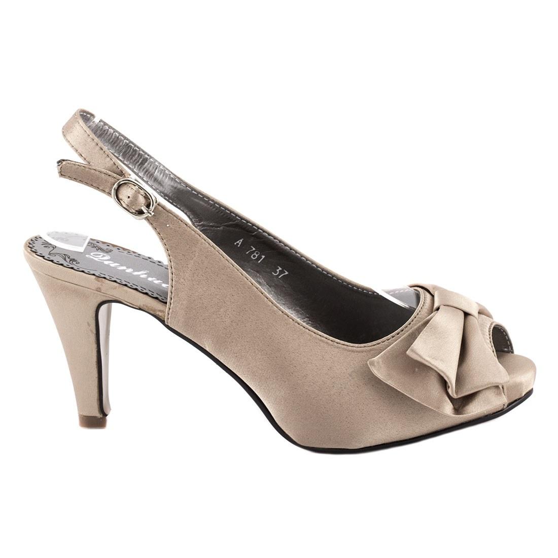 Sandale dama cu toc A781-BEJ-O