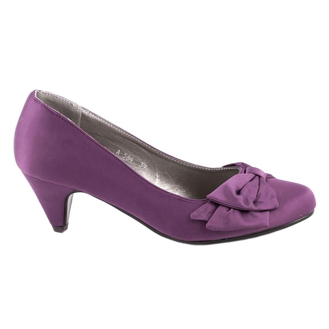 Pantofi de dama cu toc A584-PURPLE-O