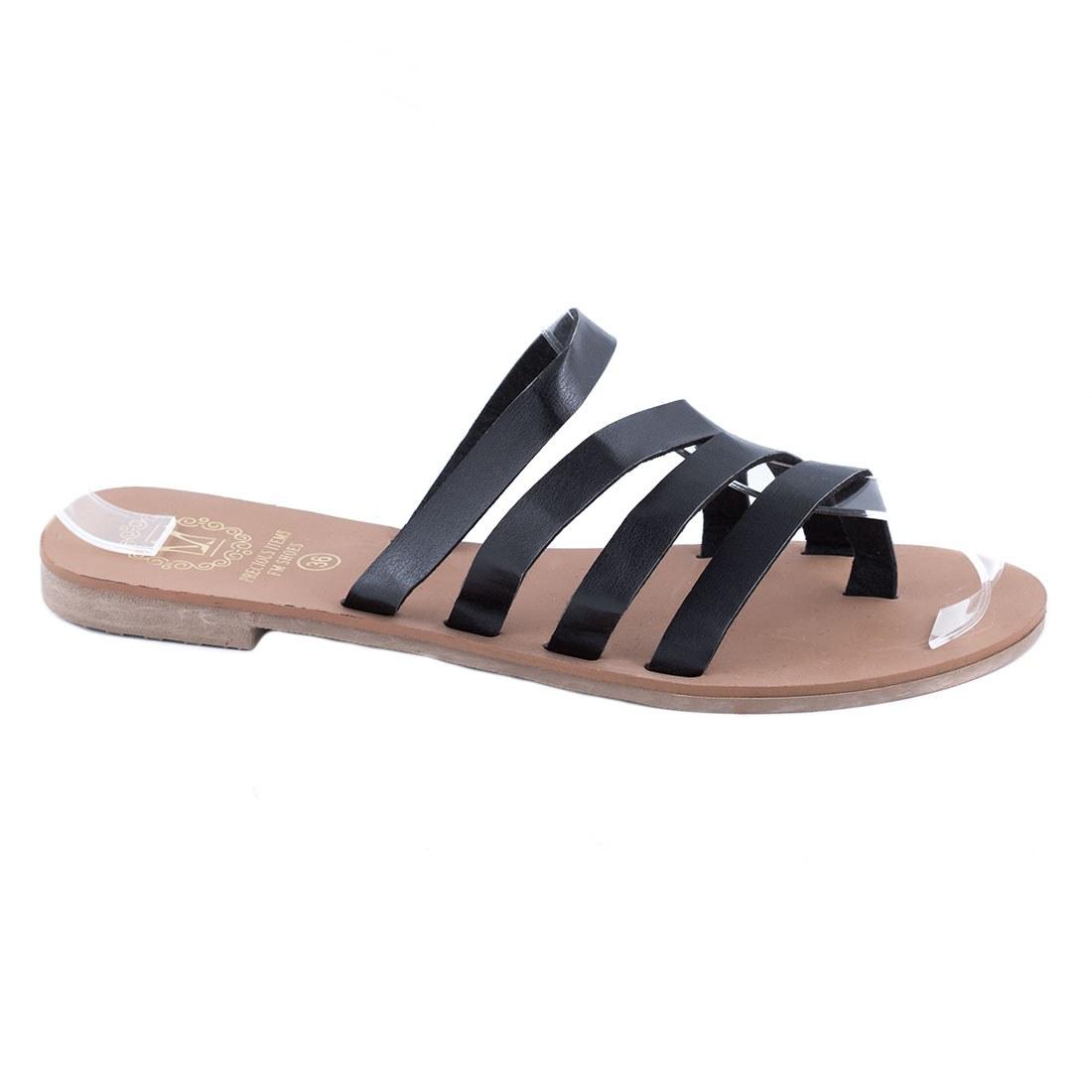 Papuci de dama usori F-01-NEGRU