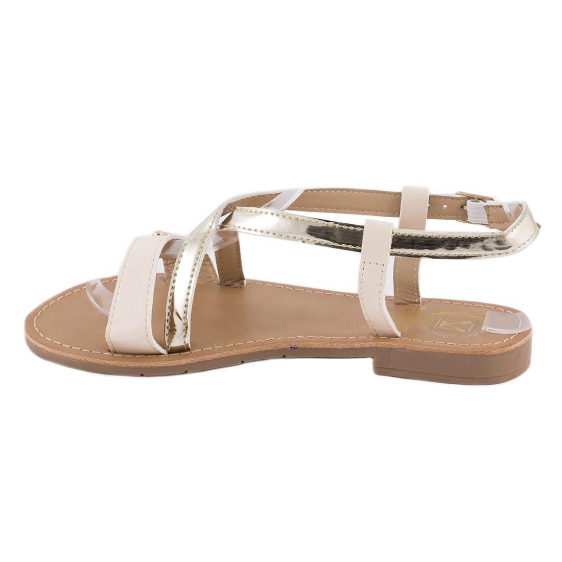 Sandale dama cu barete F-04-BEJ