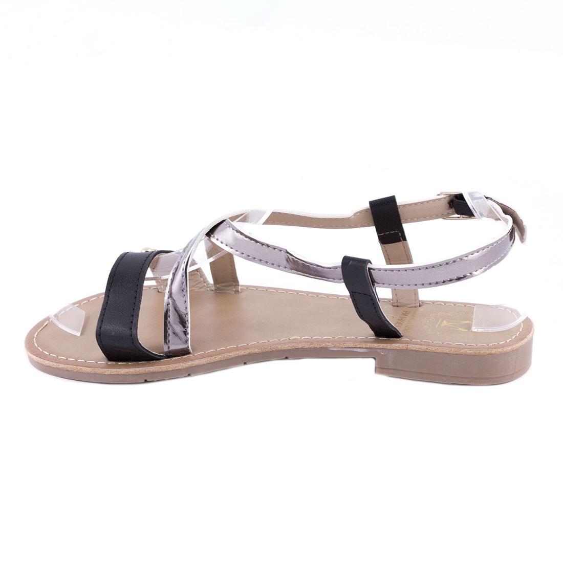 Sandale dama cu barete F-04-NEGRU