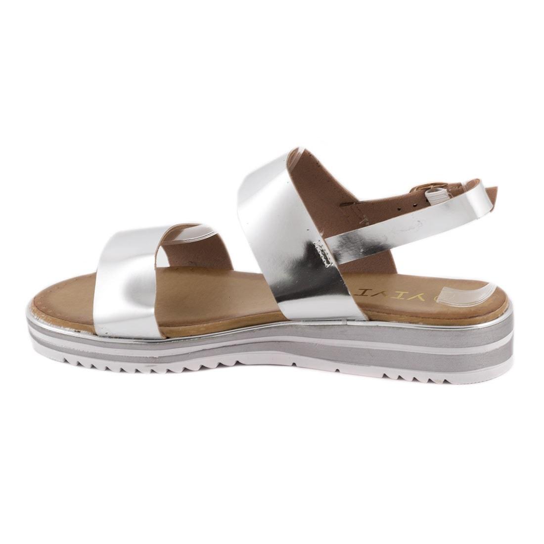 Sandale dama comode K-5-SILVER