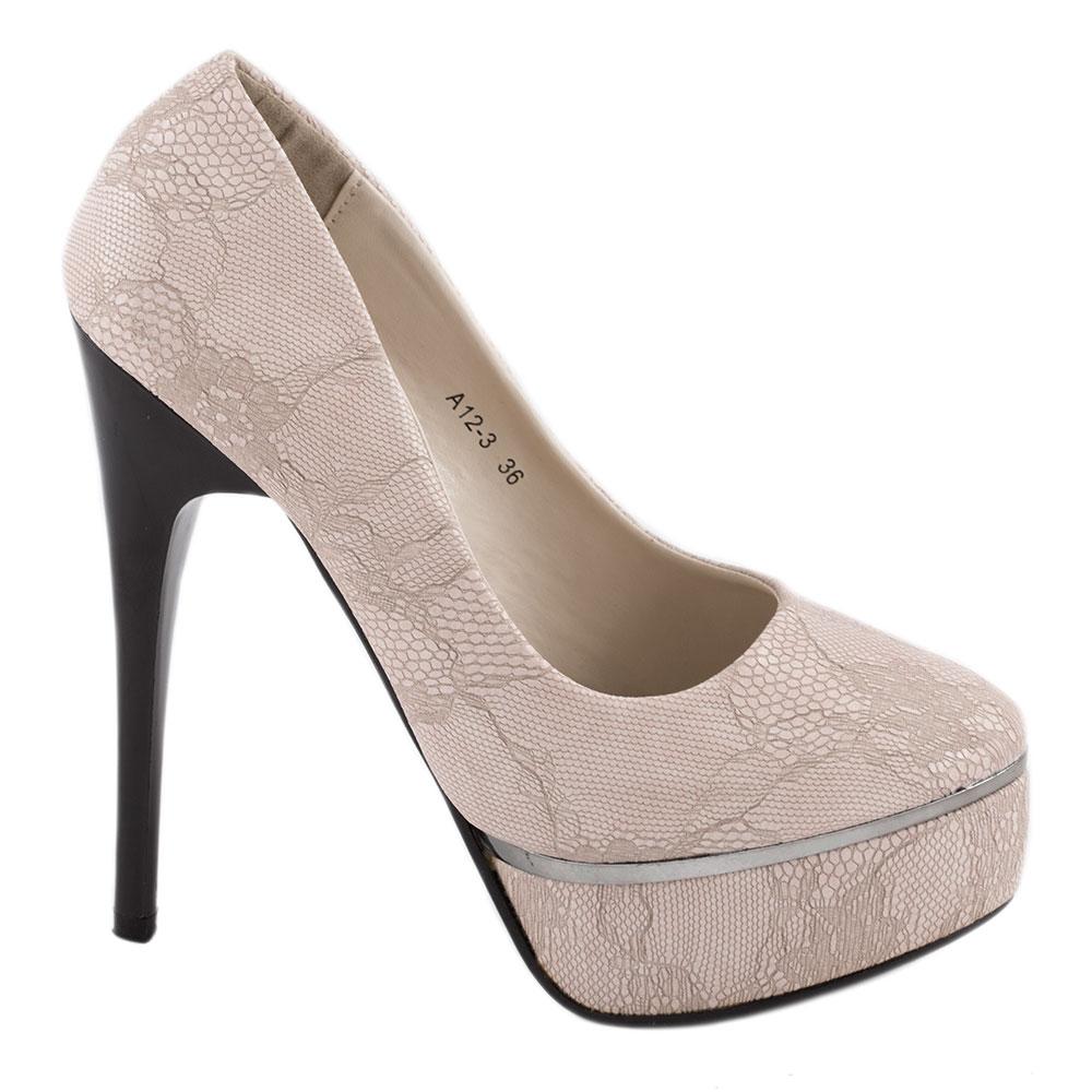 Pantofi dama cu paltforma A12-3-PINK