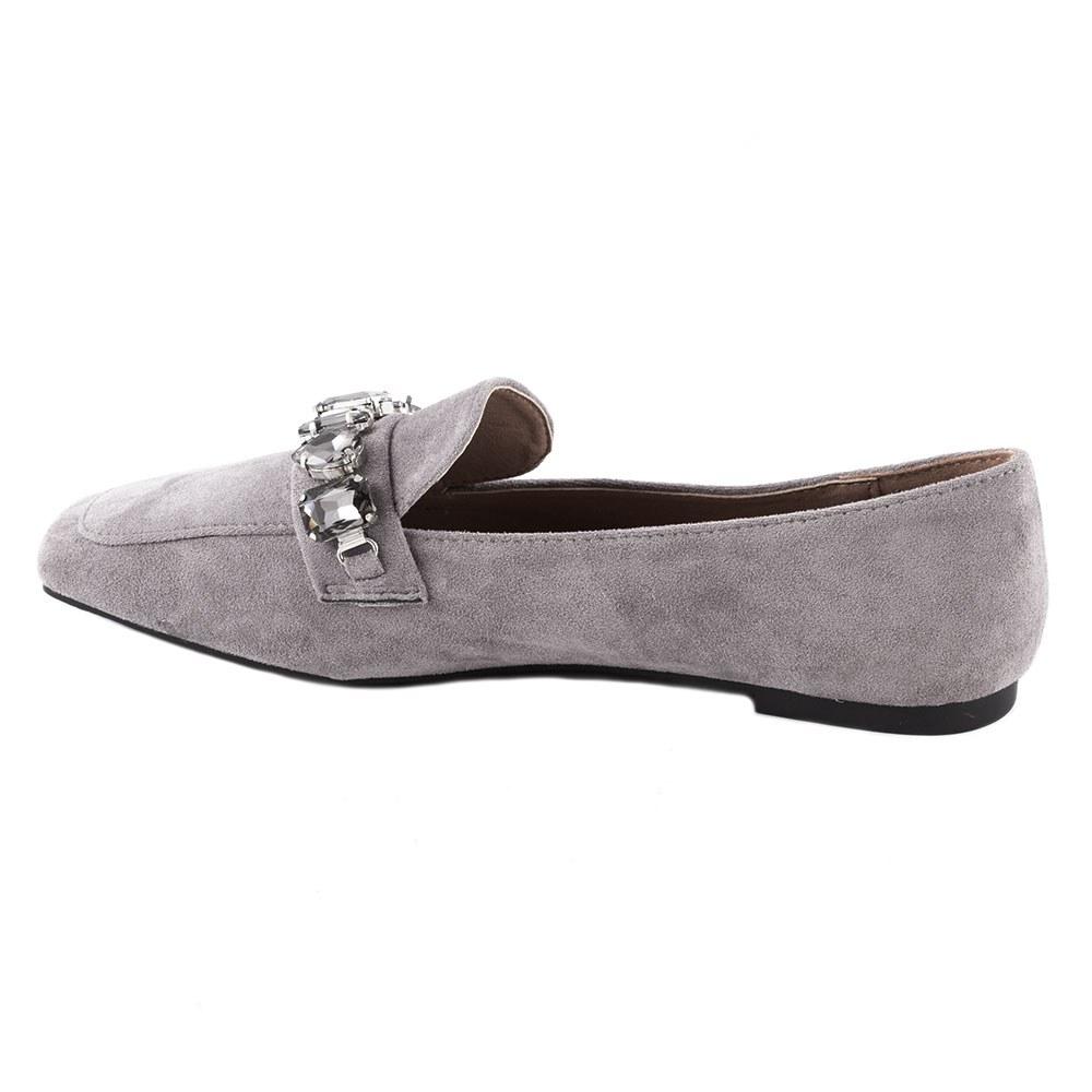 Pantofi dama fara toc cu pietre aplicate KFL-509-GRI