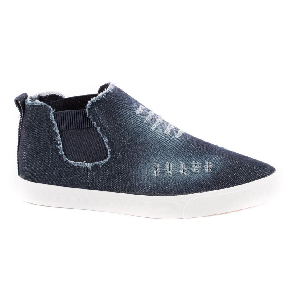 Sneakers de dama din denim F115-NAVY