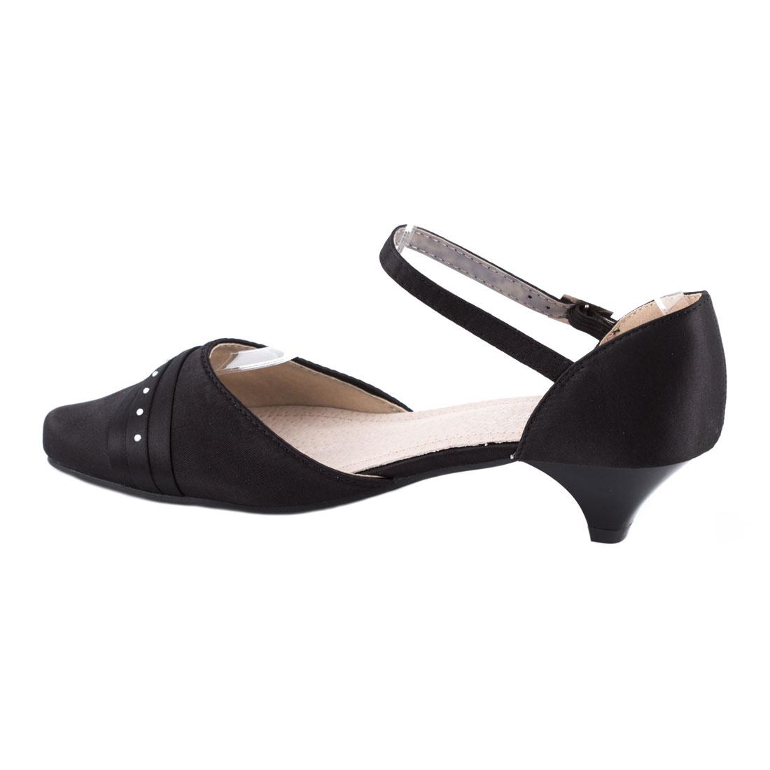 Sandale de dama cu varf acoperit  F1516-3NEGRU