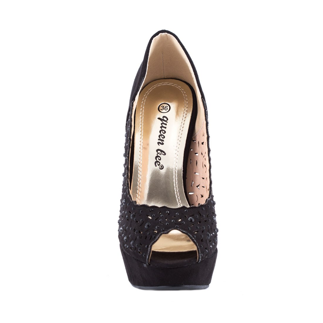 Pantofi de dama cu toc M3212-6-NEGRU