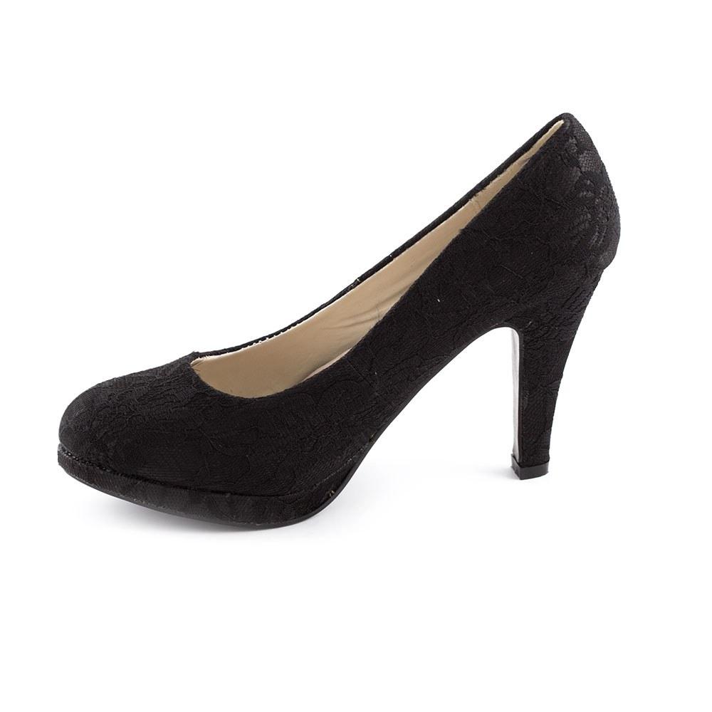 Pantofi dama cu toc KF26-65A-NEGRU