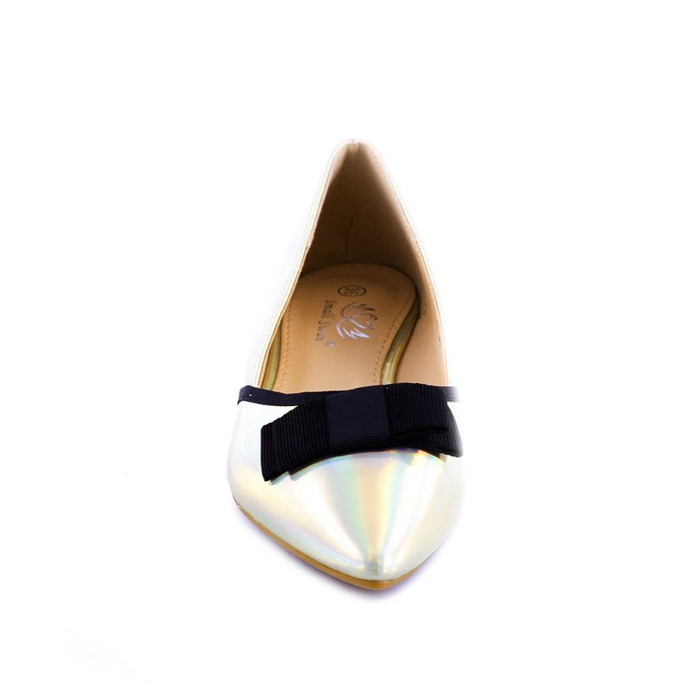 Balerini de dama cu fundita WH123-GOLD