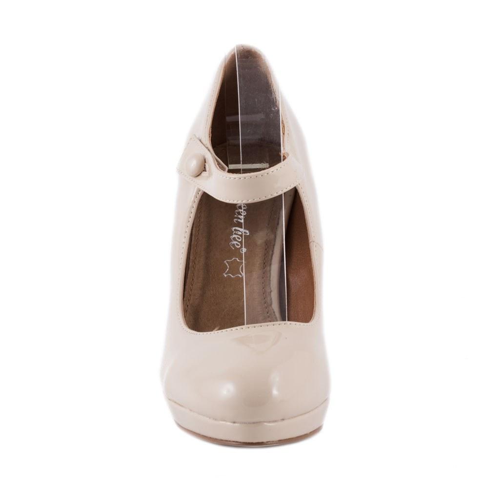 Pantofi dama cu toc si bareta K769-4-BEJ