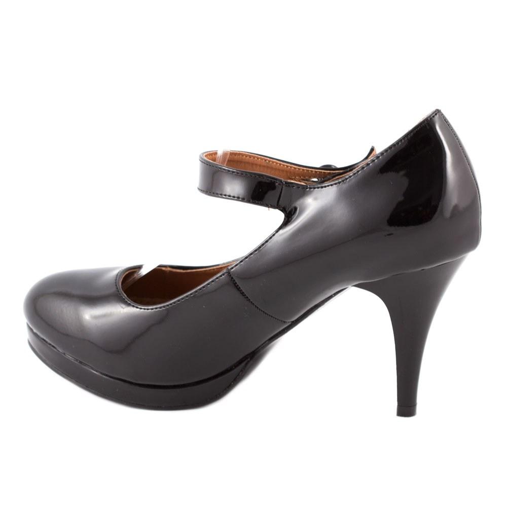 Pantofi dama cu toc si bareta K769-4-NEGRU