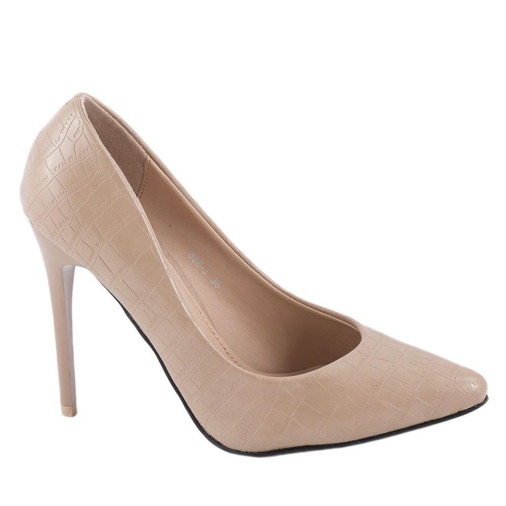 Pantofi de dama stiletto 888-3-BEJ
