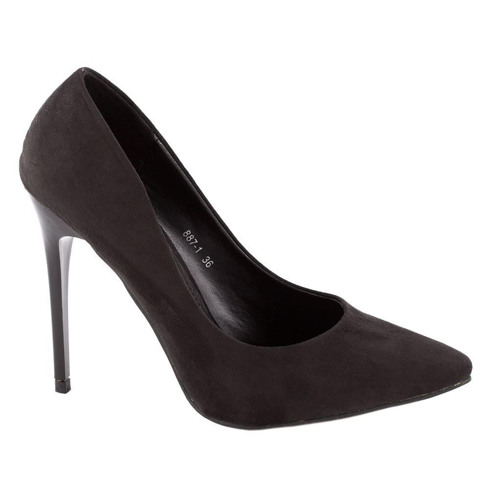 Pantofi dama stiletto 887-1-NEGRU