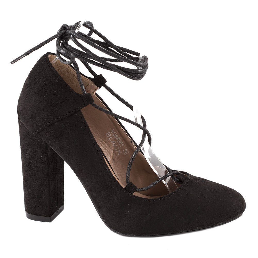 Pantofi dama cu toc XQ-98901-NEGRU